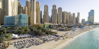 Beach and City Skyline in Dubai