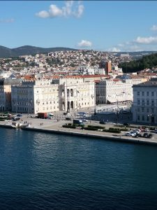 View of Trieste from Sky Princess in Port - Strawberry Holidays